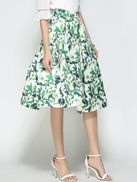 EricdressFloral Knee-Length Usual Skirts