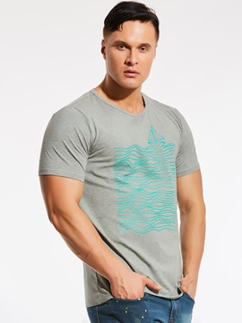 Ericdress Short Sleeve Crew Neck Quality Plus Size Men's T-Shirt