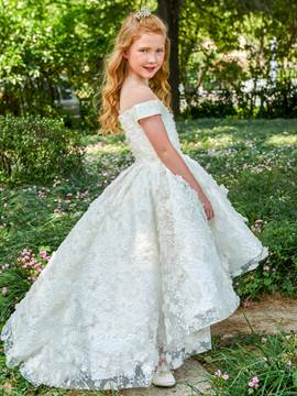 Ericdress Off The Shoulder Lace Flower Girl Dress