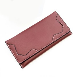 Ericdress Long Type Solid Color Women Purse