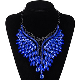 Ericdress Shinning Blue Sapphire Pendant Necklace