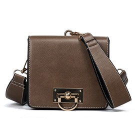 Ericdress Retro Lock Decoration Crossbody Bag