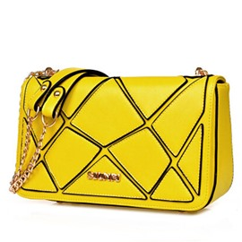 Ericdress Occident Style Irregular Patchwork Crossbody Bag
