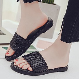 Ericdress Fashion Open Toe Rivets Decorated Mules Shoes