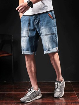 Ericdress Loose Denim Half Leg Casual Men's Shorts
