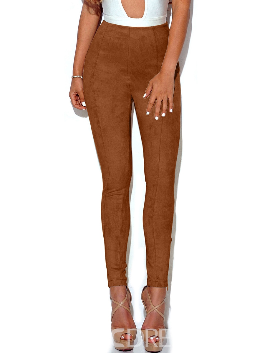 Ericdress High Waisted Tight Cafe Womens Leggings