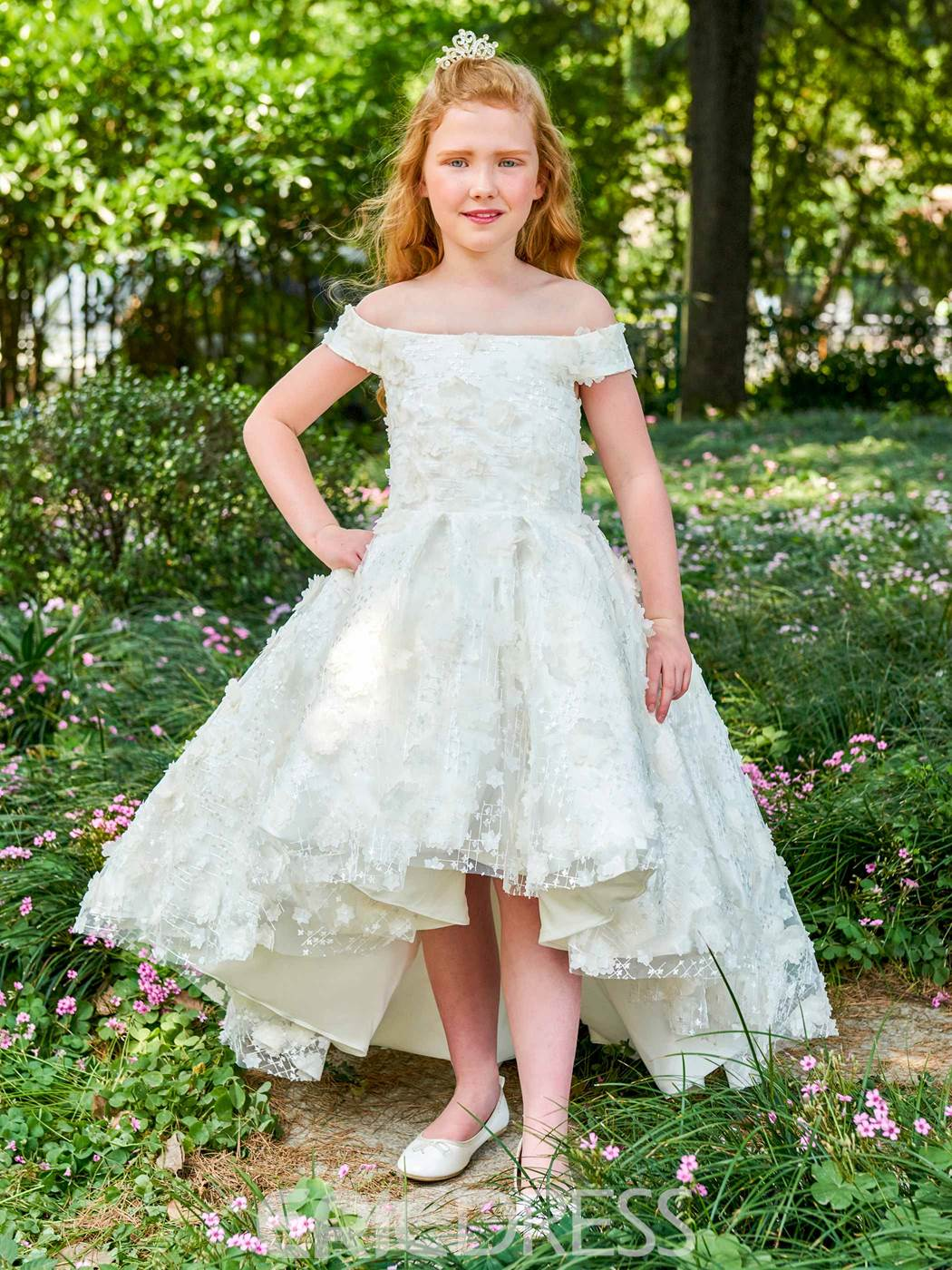 Ericdress Off The Shoulder Lace Princess Flower Girl Dress 12885821