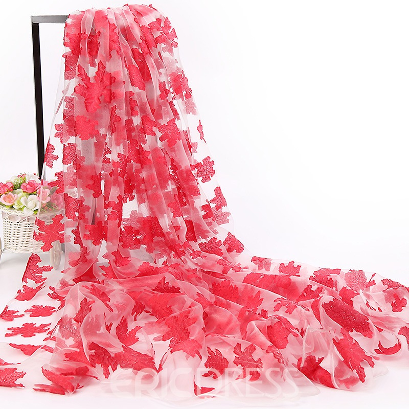 Ericdress Organza Long Floral All Match Scarf for Women