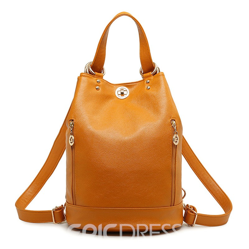 Ericdress Multi Function Zipper Bucket Backpack