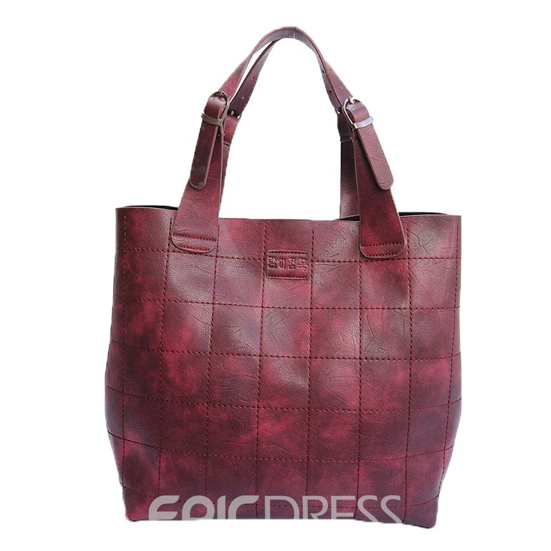 Ericdress Bucket Shape Stitching Design Tote Bag