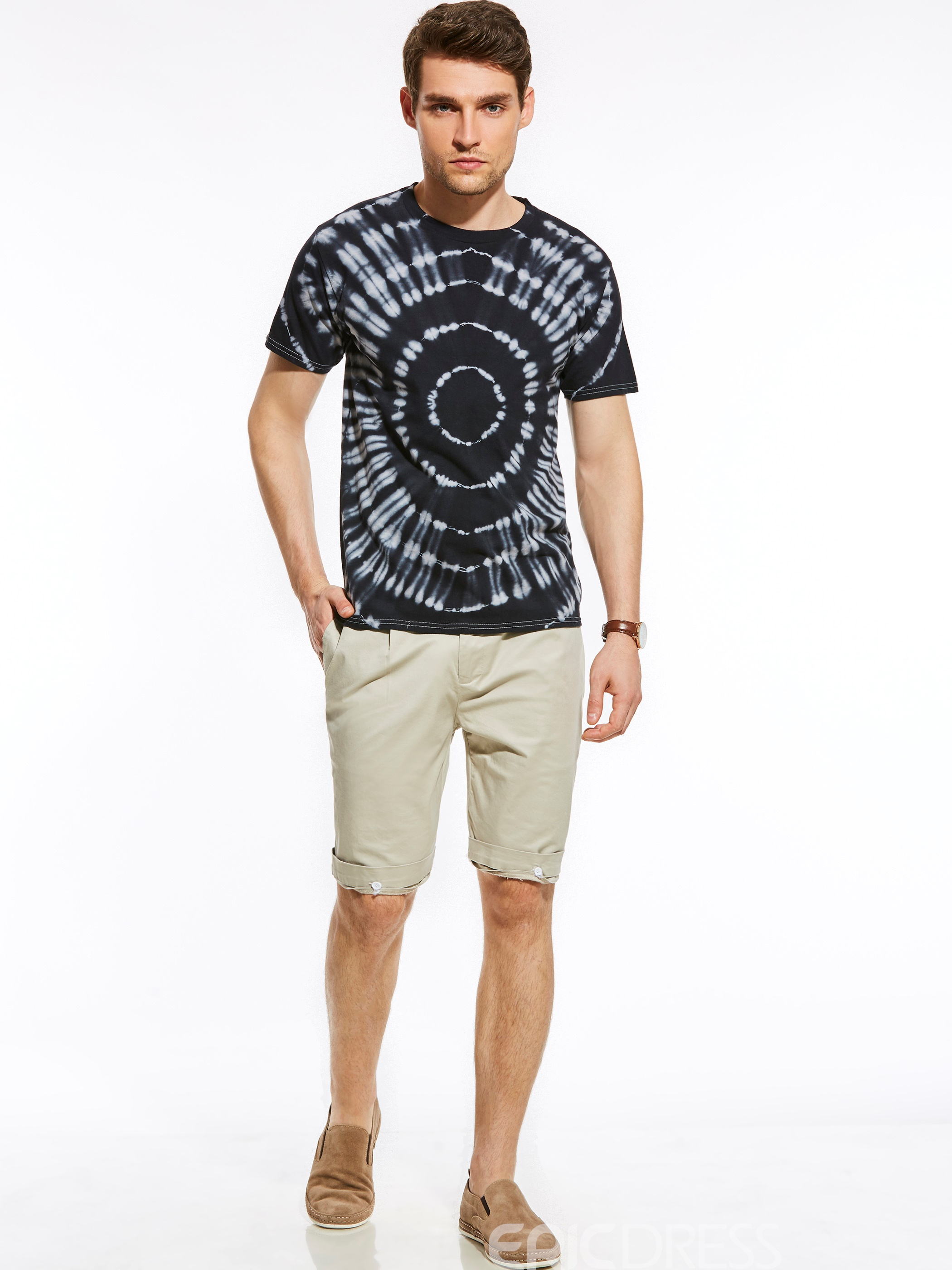 Ericdres Short Sleeve Unique Print Vogue Quality Men's T-Shirt