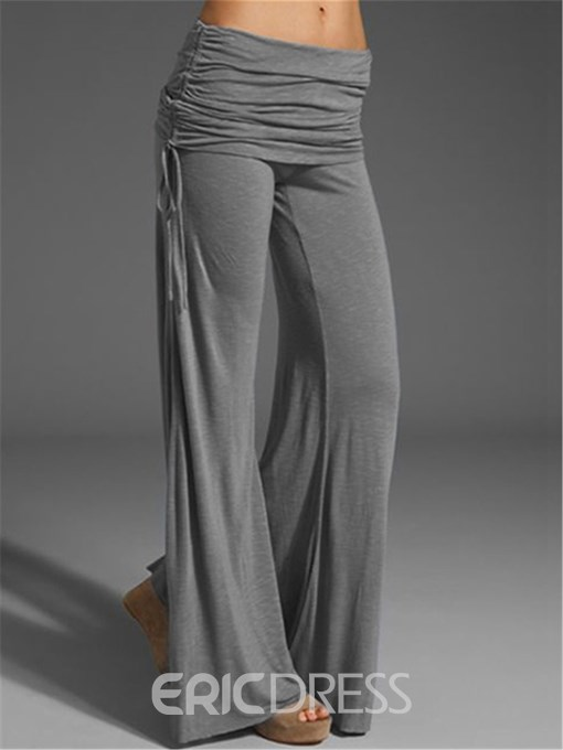 Ericdress Loose Wide Legs Pleated Pants