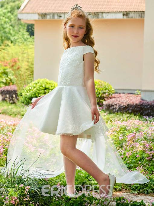 Ericdress Off The Shoulder Lace Short Flower Girl Dress