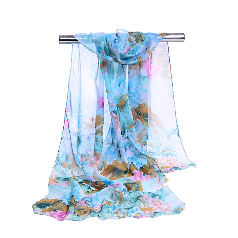 Ericdress All Match Chiffon Floral Printed Scarf