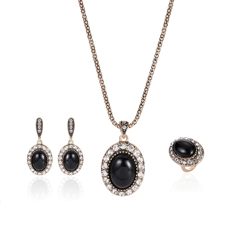 Ericdress Synthetic Diamond Spherical Silver Pendant Jewelry Set