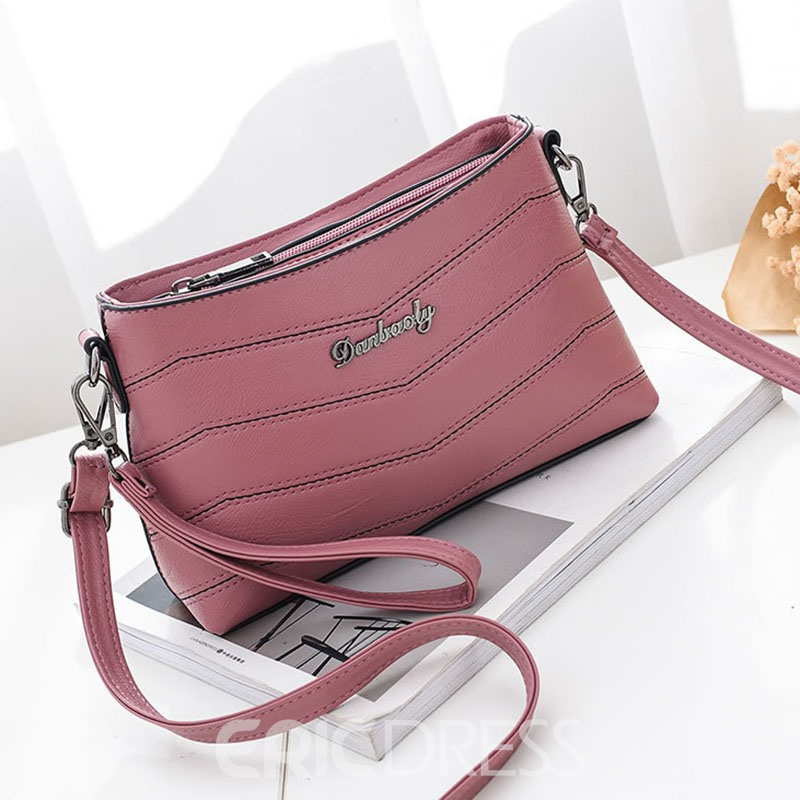 Ericdress Casual Water Ripple Stripe Crossbody Bag