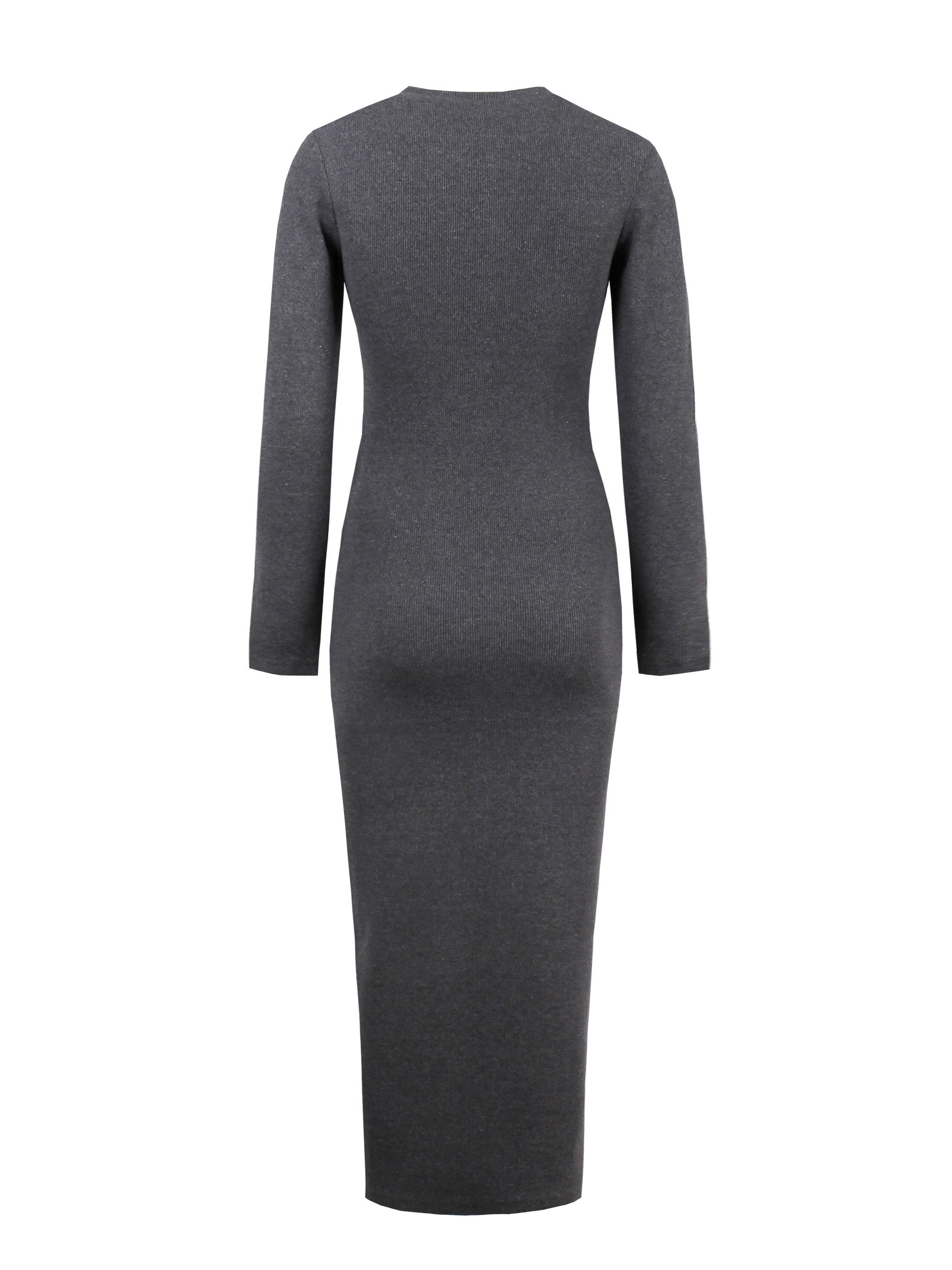 Ericdress Single-Breasted Button Mid-Calf Sweater Dress