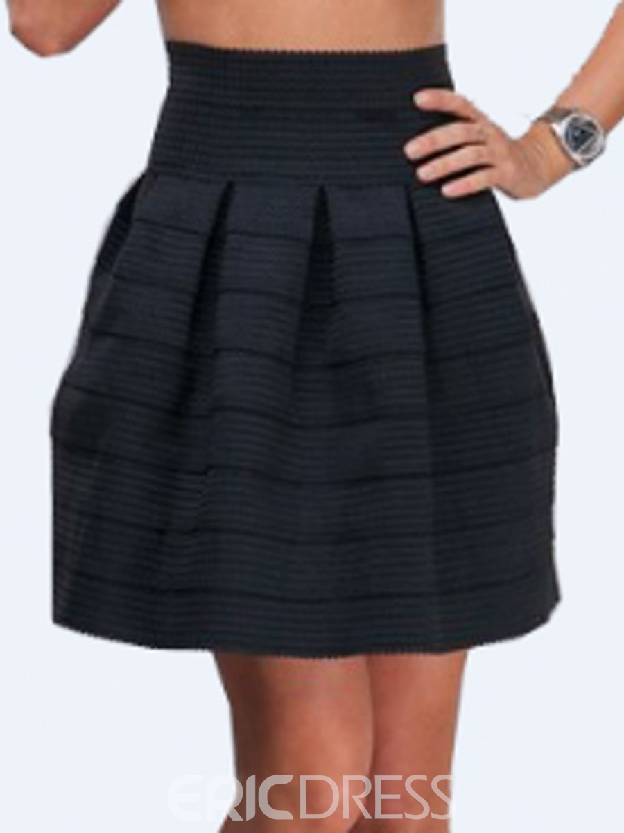 Ericdress High-Waist Pleated Women's Skirt