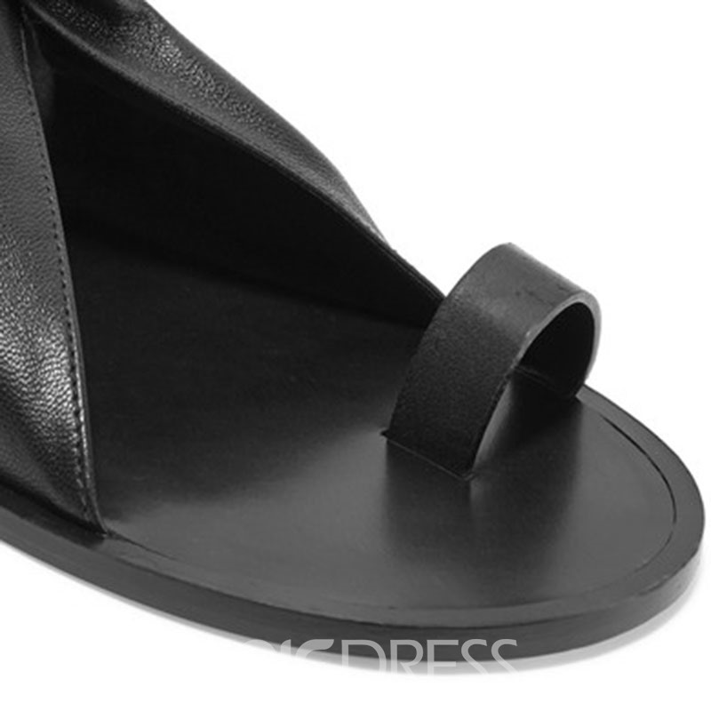 Ericdress Cool Toe Ring Flat Sandals