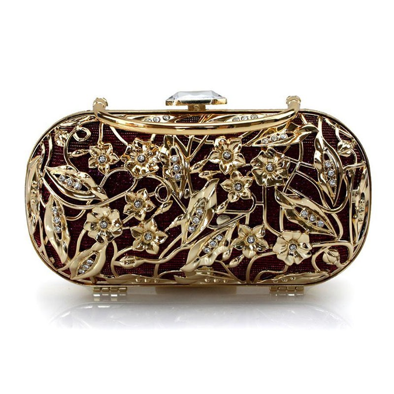 Ericdress Retro Metal Hollowed Evening Bag