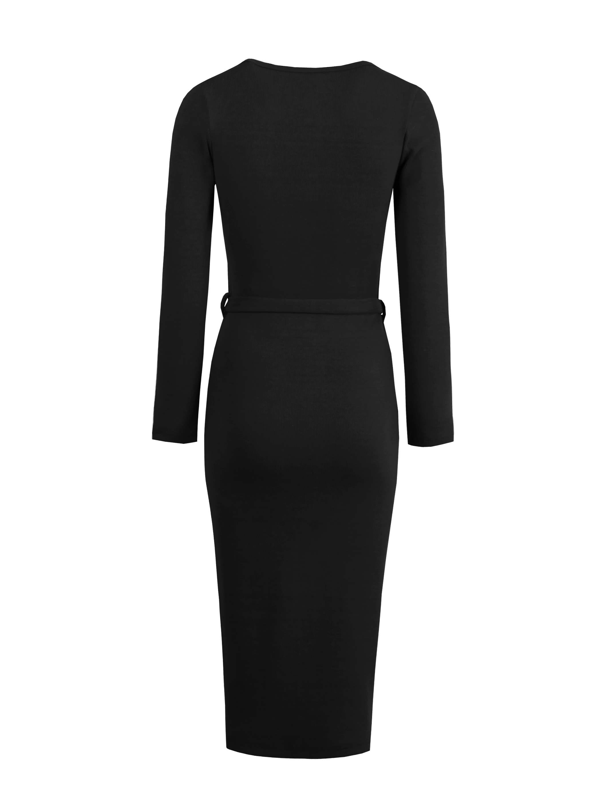 Ericdress Long Sleeves Lace-Up Button Bodycon Dress