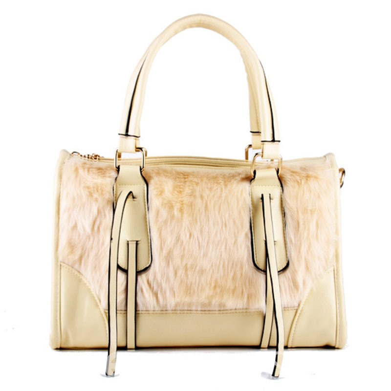 Ericdress Patchwork Design Plush Women Handbag