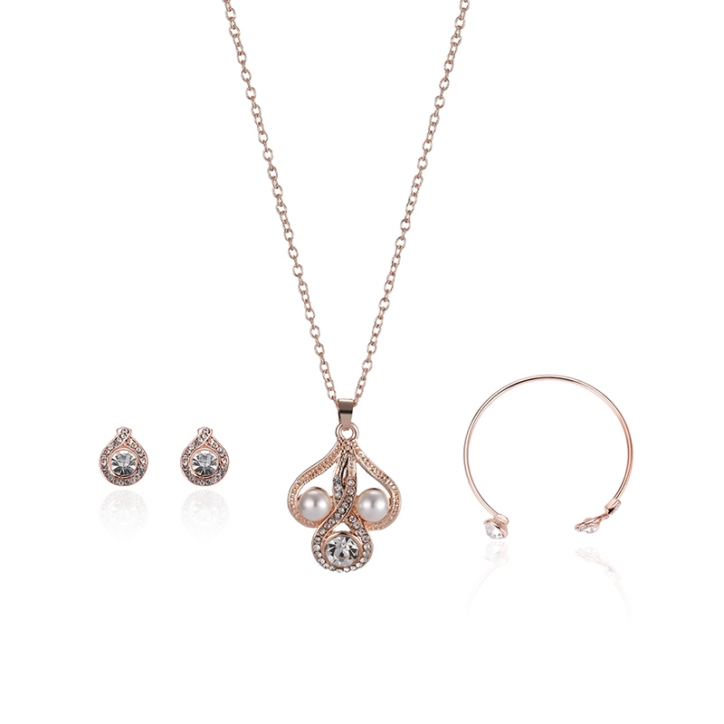 Ericdress Pearl Three-Piece Jewelry Set for Women