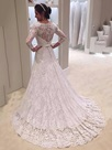 Ericdress V Neck A Line Lace Long Sleeves Wedding Dress