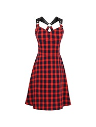 Ericdress Plaid Sleeveless Hollow A Line Dress