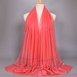 Ericdress Hot Colorful Stripe Voile Scarf for Women