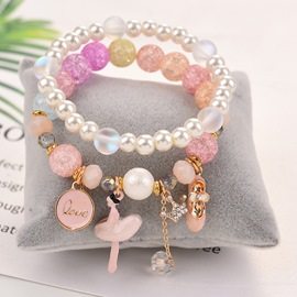 Ericdress Sweet Candy Color Garnet Bead Bracelet for Girls