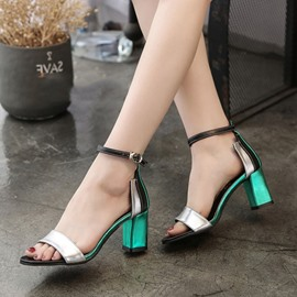Ericdress Line-Style Buckle Chunky Sandals