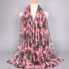 Ericdress Voile Sunflower Printed Women's Scarf