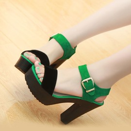 Ericdress Ankle Strap Platform Chunky Sandals