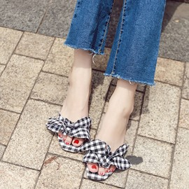 Ericdress Flip Flop Plaid Mules Shoes