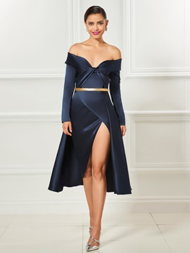 Ericdress Off The Shoulder Short Cocktail Dress With Side Slit