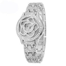 Ericdress All Match Diamante Hollow Out Watch for Women