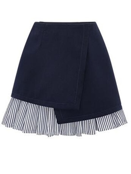 Ericdress Stripe Asymmetric Usual Skirts