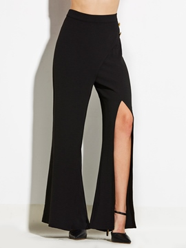 Ericdress Slim Plain Slit Women's Pants
