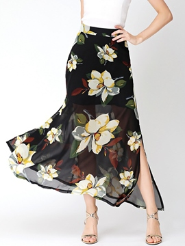 Ericdress Print Layered Usual Skirts