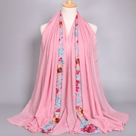 Ericdress Hot Muslim Embroidery Scarf for Women