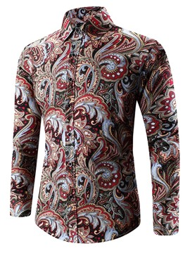 Ericdress Unique Ethnic Style Print Men's Shirt