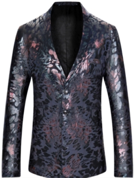 Ericdress Notched Lapel Vintage Print Men's Blazer