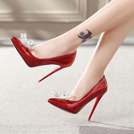 Ericdress Pointed Toe Slip-On Stiletto Heel Pumps