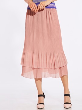 Ericdress Mid-Calf Chiffon Layered Usual Skirts