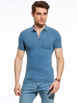 Ericdress Quality Plain Short Sleeve Slim Men's Polo T-Shirt