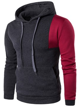 Ericdress Color Block Big Pocket Casual Men's Hoodie