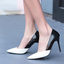 Ericdress Pointed Toe Color Block Stiletto Pumps
