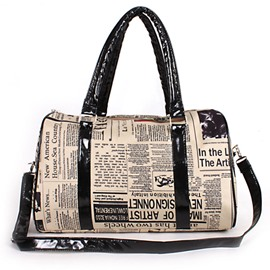 Ericdress Distinctive Newspaper Printing Women Handbag