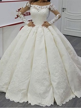 Ericdress Ball Gown Off The Shoulder Long Sleeves Wedding Dress
